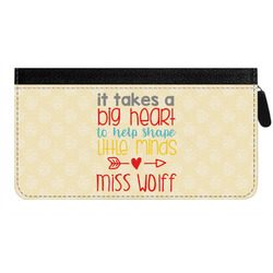 Teacher Quote Genuine Leather Ladies Zippered Wallet (Personalized)