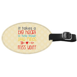 Teacher Quote Genuine Leather Luggage Tag (Personalized)