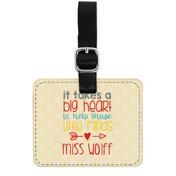 Teacher Quote Genuine Leather Luggage Tag w/ Name or Text