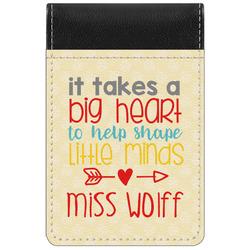 Teacher Quote Genuine Leather Small Memo Pad (Personalized)