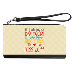 Teacher Quote Genuine Leather Smartphone Wrist Wallet (Personalized)