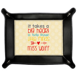 Teacher Quote Genuine Leather Valet Tray (Personalized)