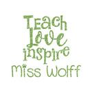Teacher Quote Glitter Iron On Transfer- Custom Sized (Personalized)