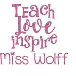 Teacher Quote Glitter Sticker Decal - Custom Sized (Personalized)