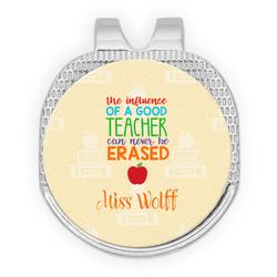 Teacher Quote Golf Ball Marker - Hat Clip