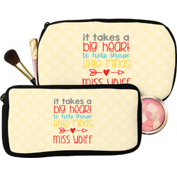 Teacher Quote Makeup / Cosmetic Bag (Personalized)