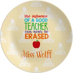 "Teacher Quote 8"" Melamine Appetizer / Dessert Plate (Personalized)"