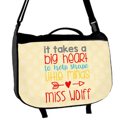 Teacher Quote Messenger Bag (Personalized)