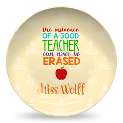 Teacher Quote Microwave Safe Plastic Plate - Composite Polymer (Personalized)