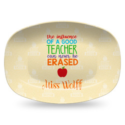 Teacher Quotes and Sayings Plastic Platter - Microwave & Oven Safe Composite Polymer (Personalized)