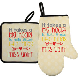 Teacher Quote Oven Mitt & Pot Holder (Personalized)