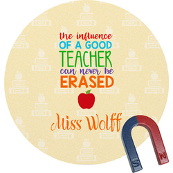 Teacher Quote Round Fridge Magnet (Personalized)