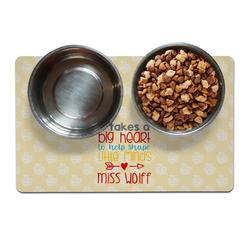 Teacher Quote Pet Bowl Mat (Personalized)