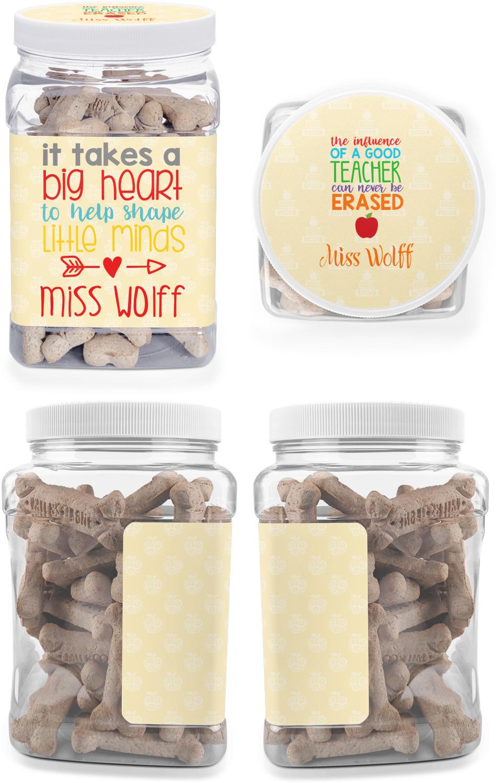 Teacher Quote Dog Treat Jar Personalized Youcustomizeit