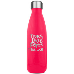 Teacher Quotes and Sayings RTIC Bottle - 17 oz. Pink (Personalized)
