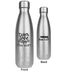 Teacher Quotes and Sayings RTIC Bottle - Silver - Engraved Front & Back (Personalized)