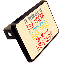 """Teacher Quote Rectangular Trailer Hitch Cover - 2"""" (Personalized)"""