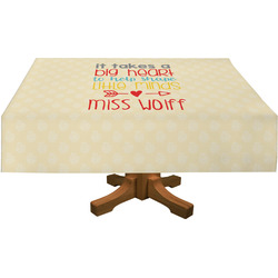 Teacher Quote Tablecloth (Personalized)