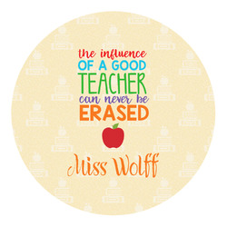 Teacher Quote Round Decal (Personalized)