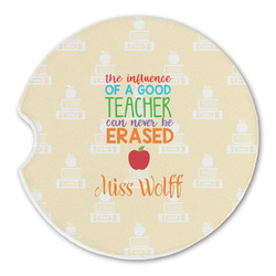 Teacher Quote Sandstone Car Coasters (Personalized)