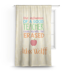 Teacher Quote Sheer Curtains (Personalized)