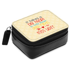 Teacher Quote Small Leatherette Travel Pill Case (Personalized)