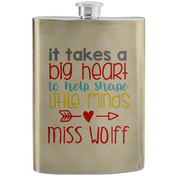 Teacher Quote Stainless Steel Flask (Personalized)