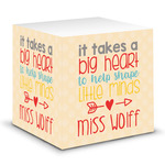 Teacher Quote Sticky Note Cube (Personalized)