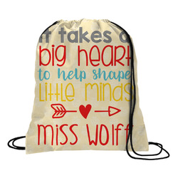 Teacher Quote Drawstring Backpack (Personalized)