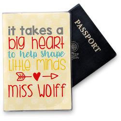 Teacher Quote Vinyl Passport Holder (Personalized)