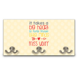 Teacher Quote Wall Mounted Coat Rack (Personalized)
