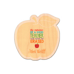 Teacher Quote Genuine Maple or Cherry Wood Sticker (Personalized)