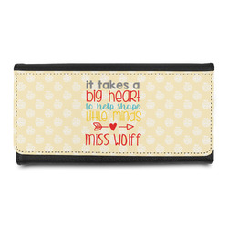 Teacher Quote Leatherette Ladies Wallet (Personalized)