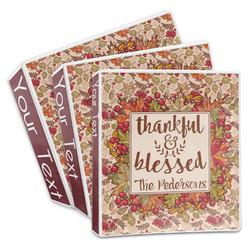 Thankful & Blessed 3-Ring Binder (Personalized)
