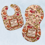 Thankful & Blessed Baby Bib & Burp Set w/ Name or Text