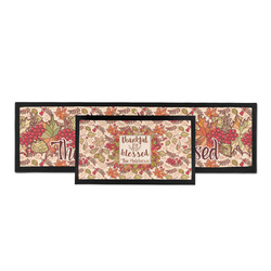 Thankful & Blessed Bar Mat (Personalized)