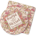 Thankful & Blessed Rubber Backed Coaster (Personalized)