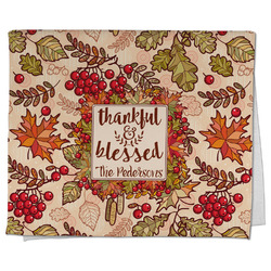 Thankful & Blessed Kitchen Towel - Full Print (Personalized)