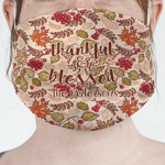 Thankful & Blessed Face Mask Cover (Personalized)