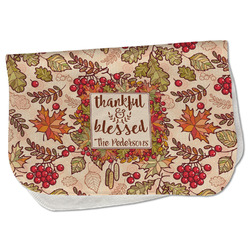 Thankful & Blessed Burp Cloth - Fleece w/ Name or Text