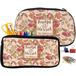 Thankful & Blessed Neoprene Pencil Case (Personalized)