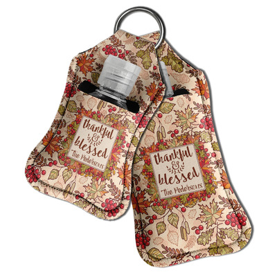 Thankful & Blessed Hand Sanitizer & Keychain Holder (Personalized)