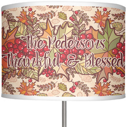 "Thankful & Blessed 13"" Drum Lamp Shade (Personalized)"