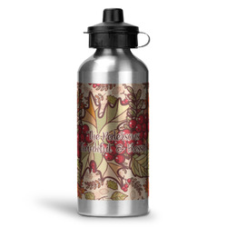 Thankful & Blessed Water Bottle - Aluminum - 20 oz (Personalized)