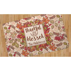 Thankful & Blessed Area Rug (Personalized)