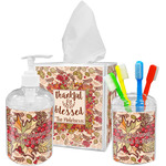 Thankful & Blessed Acrylic Bathroom Accessories Set w/ Name or Text