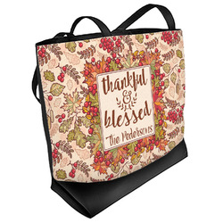 Thankful & Blessed Beach Tote Bag (Personalized)