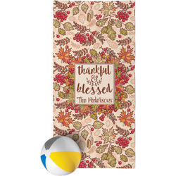Thankful & Blessed Beach Towel (Personalized)