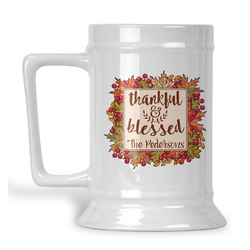 Thankful & Blessed Beer Stein (Personalized)