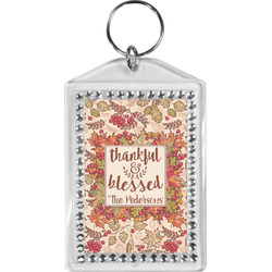 Thankful & Blessed Bling Keychain (Personalized)